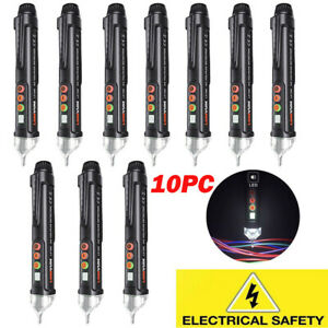 10pc Intelligent Electrical Tester Pen Non contact Ac Voltage Detector Led Light
