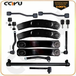 15pcs Front Upper Lower Control Arms Tie Rods For 1999 2004 Jeep Grand Cherokee