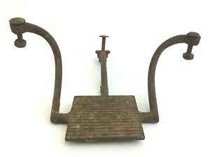 Antique Old Buggy Wagon Foot Rest Step Up Cast Iron Metal Part Used Rusted