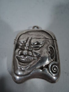 Gorham Match Safe Antique Exotic Japanese Oni American Sterling Silver