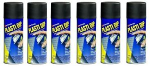 6 Plasti Dip Black Matte Liquid Wrap Removable Rubber Coating Aerosol Can