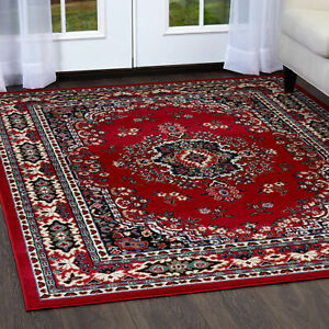 Persian Burgundy Area Rug 9 X 12 Large Oriental Carpet 69 Actual 9 2 X 12 5