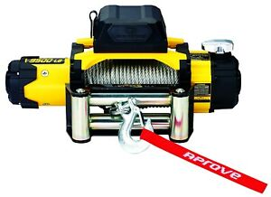 Flash Sale 9500 Lb Dual Speed Winch W steel Cable And 2 in 1 Wireless Remote