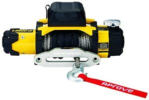 Flash Sale 9500 Lb Dual Speed Winch W Synthetic Rope And 2 in 1 Wireless Remote