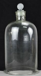 Antique Large Apothecary Chemistry Glass Top With Stopper 18 X 11
