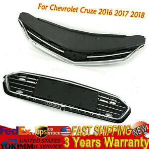 For Chevrolet Cruze 2016 2017 2018 Abs Bumper Upper Grill Middle Lower Grille