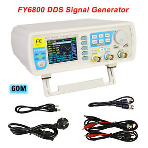 Fy6800 60mmhz Dual channel Arbitrary Waveform Dds Function Signal Generator Kit