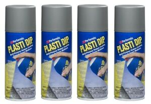 4 Plasti Dip Gray Matte Liquid Wrap Removable Rubber Coating Aerosol Can