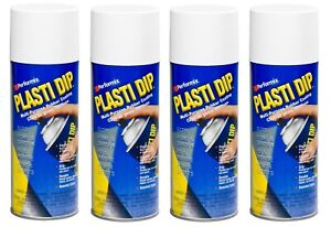 4 Plasti Dip White Matte Liquid Wrap Removable Rubber Coating Aerosol Can