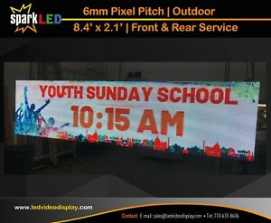 Outdoor Led Sign P6 8 4 X 2 1 Full color Double sided Digital Display