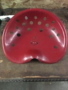 Vtg Ih International Harvester Pressed Steel Tractor Seat 16 5 x20