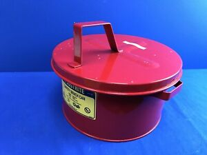 Justrite 10575 Safety Bench Can 2 gal 7 6 Liters Cap