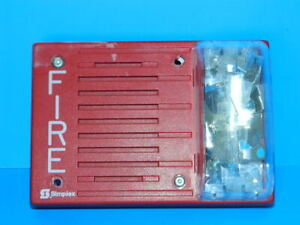 Simplex 4903 9237 Audible Visual Fire Alarm Strobe Combo 24vdc 30cd Red