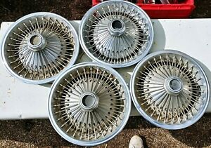 1970 1980 Dodge Chrysler Plymouth Mopar Wire Rim 14 Hubcaps Wheel Covers