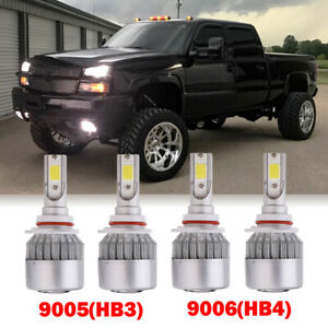 9005 9006 Combo Led Headlight Bulbs For 1999 2006 Chevrolet Silverado 1500 2500