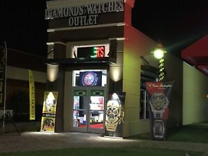 Large Outdoor Diamond And Watches Channel Letter Led Lighted Store Sign