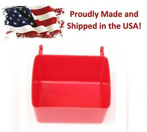 Small Plastic Red Pegboard Storage part Bins Multi pack Pricing Jsp Brand
