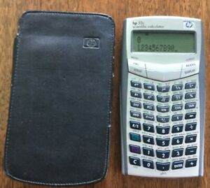 Hewlett Packard Hp 33s Scientific Calculator With Case New Batteries Tested