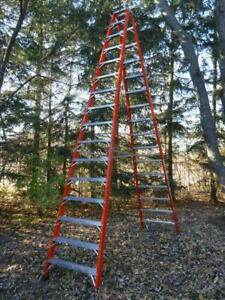 New Louisville Ladder Fm1416hd 16 Ft 375lb Rated Twin Step A frame Double Sided