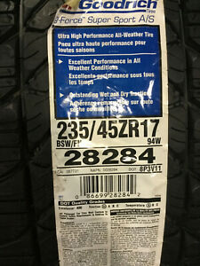 1 New 235 45 17 Bfgoodrich G force Super Sport A s Tire