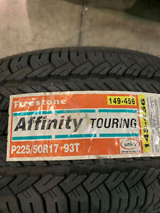 1 New 225 50 17 Firestone Affinity Touring Tire