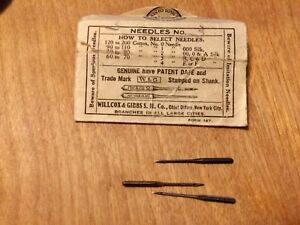 3 Needles In Sleeve Willcox Gibbs Sewing Machine Genuine Parts Accessories