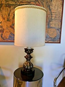 Vintage Stiffel Hollywood Regency Mid Century Modern Solid Brass Lamp 2 Lights