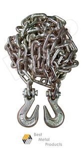 2 1 4 X 12 Ft Tow Chain With Hooks Towing Pulling Secure Truck Cargo Chain146