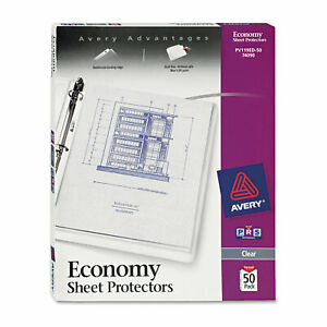 Top load Sheet Protector Economy Gauge Letter Clear 50 box