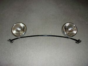 1930 31 Ford Model A Head Lights W Bar Ford Script Lenses From Restored Coupe