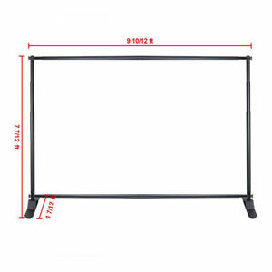 8x10 Adjustable Step And Repeat Telescopic Banner Backdrop Stand Tradeshow L
