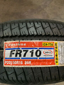 4 New 205 50 16 Firestone Fr710 Tires