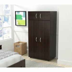 Inval Four Door Espresso Wardrobe Armoire