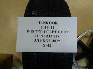 1 New Hankook Winter I Cept Evo2 215 45 17 91v Tire Wo Label 1017041 Q9