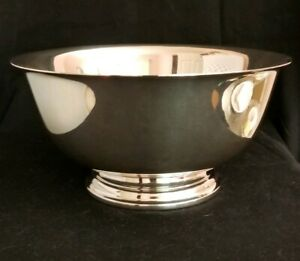 Inter Silver Co Paul Revere Reproduction 9 Sterling Silver Bowl 646 Grams