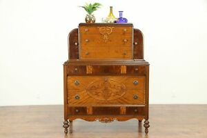 English Tudor Antique 1925 Highboy Or Tall Chest On Chest 31033