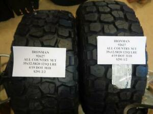 2 New Ironman All Country Mt 35 12 5 20 121q Tires Wo Label 92627 Q9