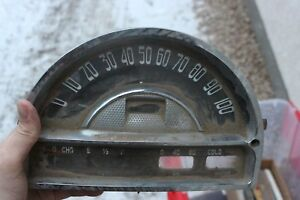 Vintage Chrome Speedo Speedometer Gauge Vintage Oil Fuel Water Hot Rod Rat Rod
