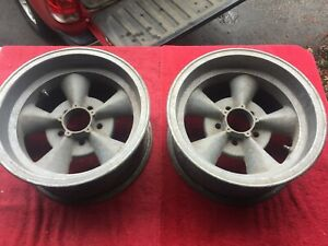Vintage 1960 S Keystone 15 X 6 Torque Thrust Aluminum Spoke Wheels Hot Rod Pair