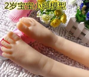 2years Old Baby Girl Silicone Simulation Foot Display Model 1pair Eur19