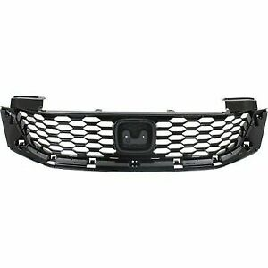For 2013 2014 2015 Honda Accord Coupe Front Grille Assembly Partial Primed Black