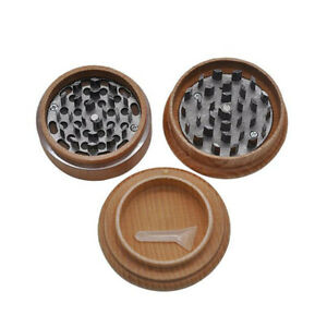 Hornet Wooden Grinder 63 Mm 3 Parts With Nail Teeth Spice Wood Herb