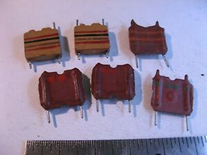 Coil Inductor Choke Radial Pcb Mount Assorted Nos Qty 6