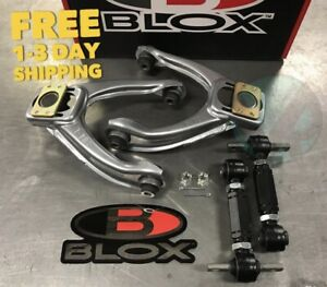 Blox Competition Front Rev Rear Camber Kit Combo For 1996 2000 Honda Civic Ek