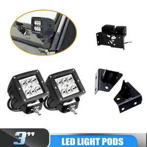 2x3 Inch Square Inch 18w Spot Led Work Light Fog Drl For Jeep Wrangler Yj