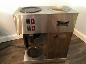 Bunn Pour O matic Vpr Wood 12 Cup Commercial Coffee Maker Brewer No Coffee Pot