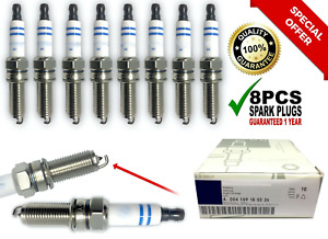 8pc Oem Bosch Mercedes Benz Doubl Platinum Spark Plugs Germany Yr7mpp33