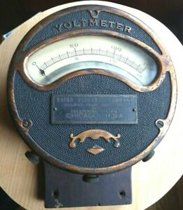 Antique Baird Electric Company Large Voltmeter Chicago Ill Telephone Rare