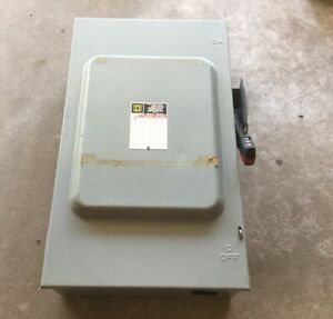 Square D H364n Heavy Duty Safety Switch 600v 200a