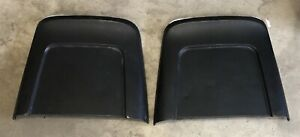 1967 Chevelle Gto Nova Lemans Original Metal Bucket Seat Backs Black
